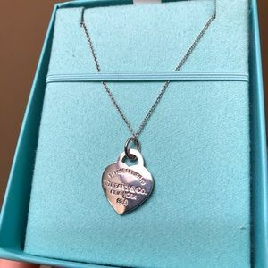 Return to Tiffany & Co. Pink Heart Tag Charm